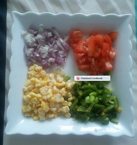 Chopped vegetable