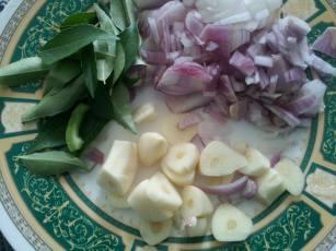Onion ,Garlic chopped