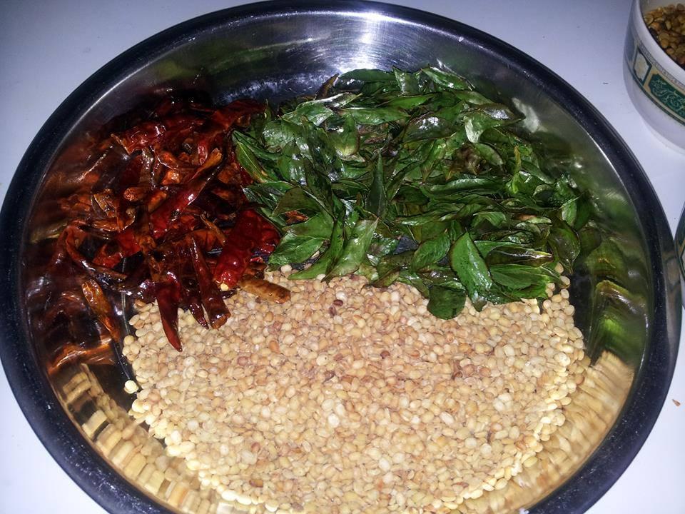 ingredients to dry roast