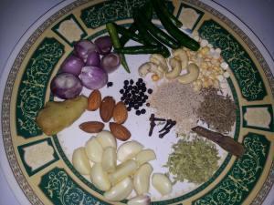 ingredients for Kurma