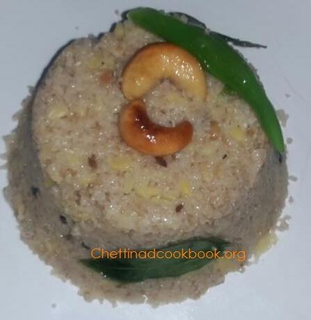 Wheat Rava Pongal