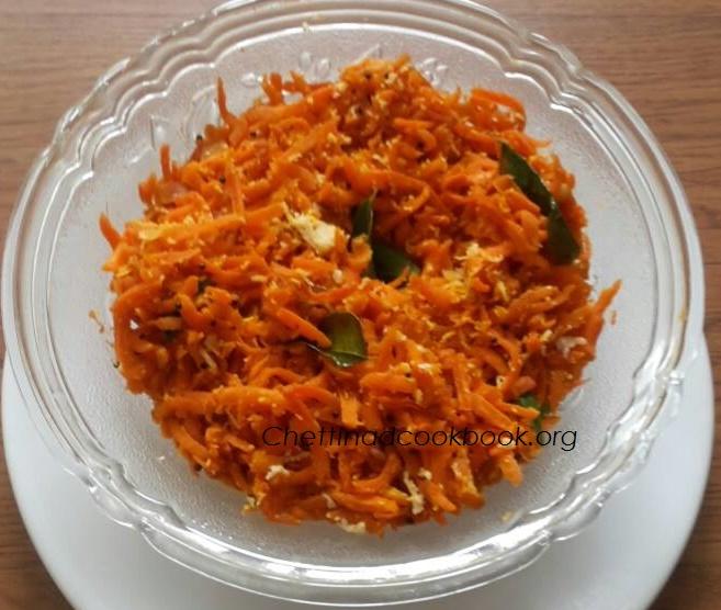 Carrot Stir fry