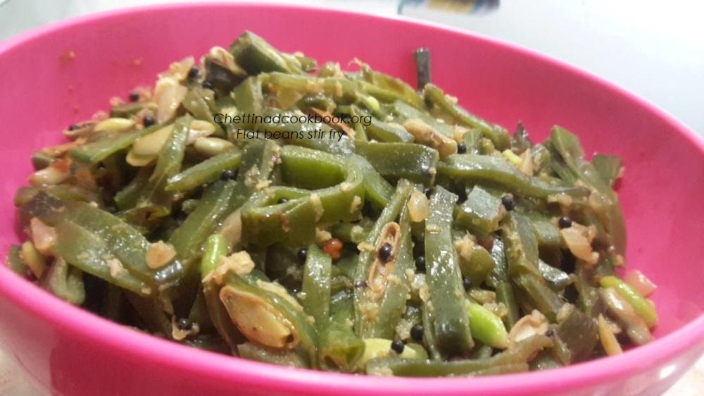 Avarakkai /Flat Beans stir fry