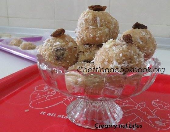 Creamy nut bites