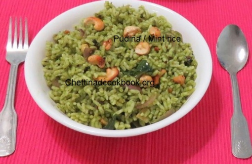 Pudina rice / Mint rice