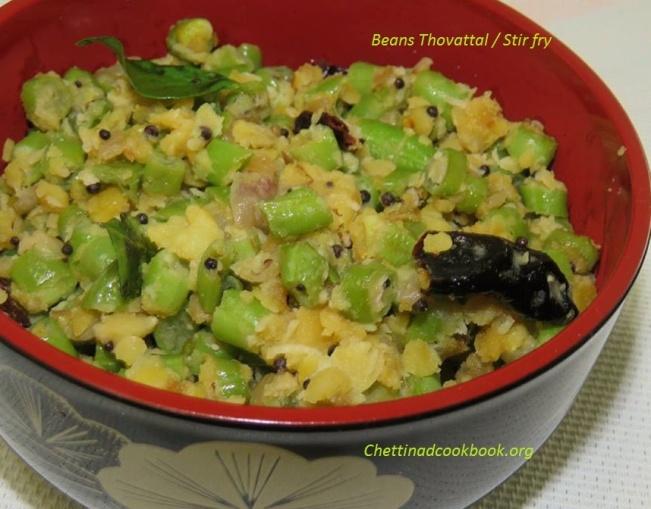 Beans Thovattal / Stir fry